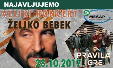 """Koncert Željka Bebeka i """"Pravila igre"""""""