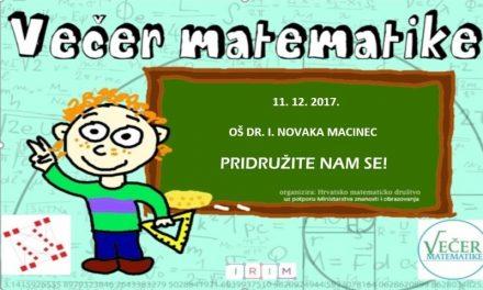 Najavljujemo Večer matematike i u Macincu