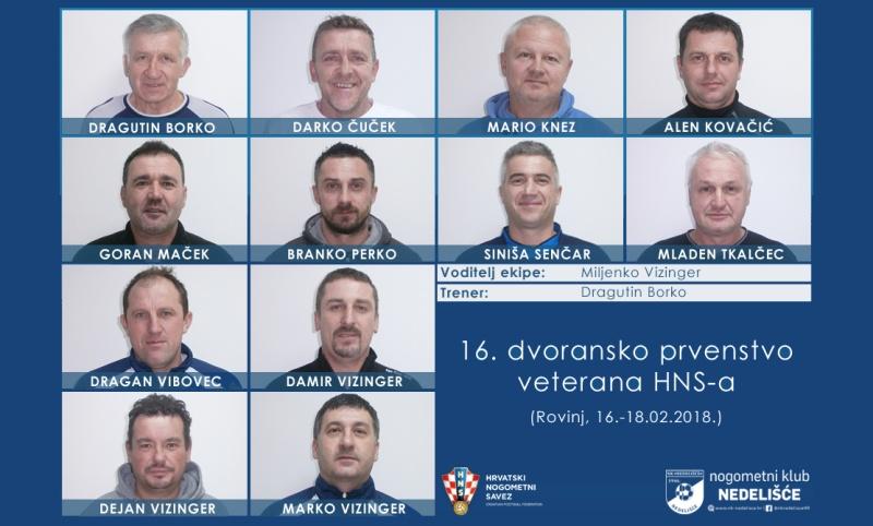 Veterani NK Nedelišća na dvoranskom prvenstvu HNS-a u Rovinju