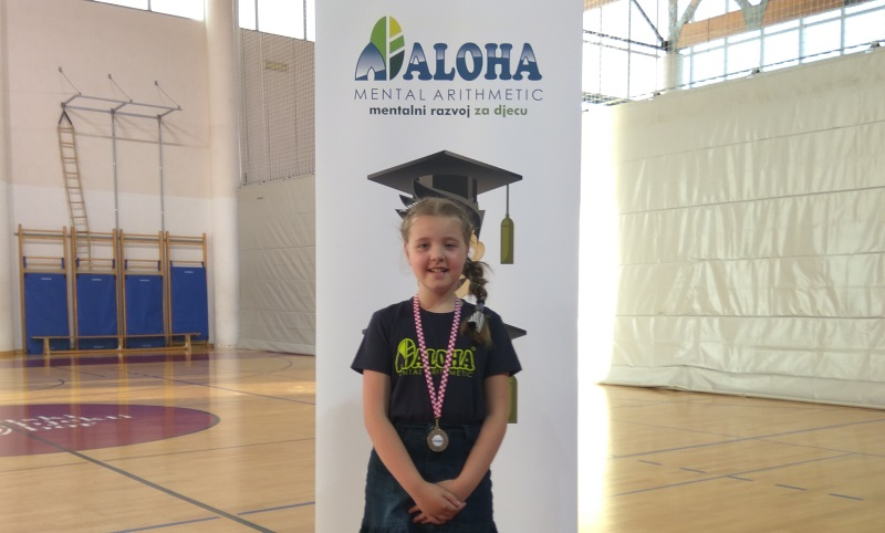 Erin Maček osvojila srebro na natjecanju u ALOHA mentalnoj aritmetici