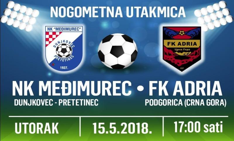 Najava: NK Međimurec ugošćuje FK Adriu iz Podgorice