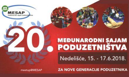 Najava: Ovog vikenda održat će se jubilarni 20. međunarodni sajam poduzetništva – MESAP 2018