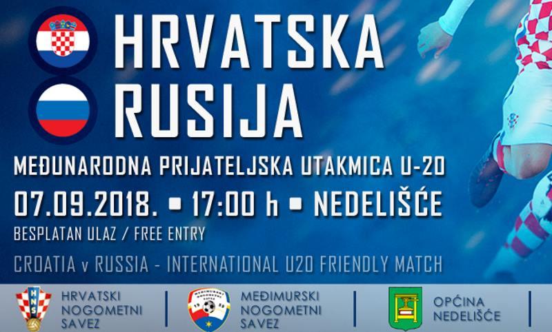 Danas u Nedelišću hrvatska U-20 reprezentacija dočekuje vršnjake iz Rusije