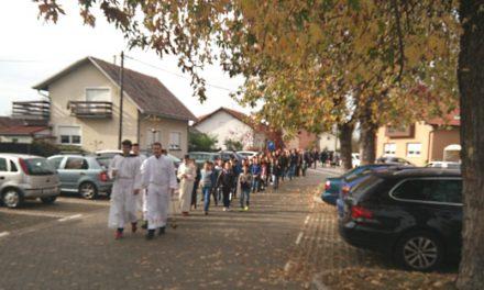 Blagdan Svih svetih u Nedelišću uz procesiju