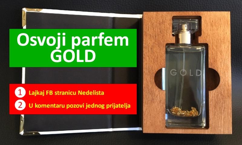 Poklanjamo parfem GOLD s 24 karatnim zlatom