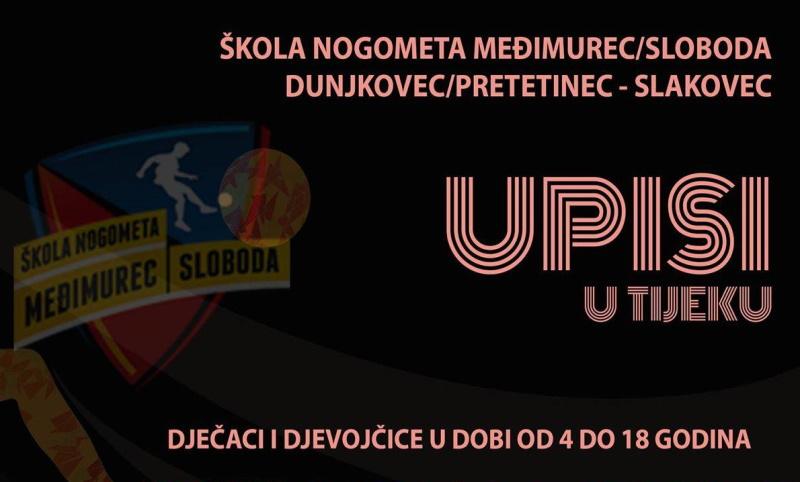 Škola nogometa Međimurec-Sloboda upisuje nove članove