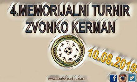 U subotu 4. memorijalni turnir Zvonko Kerman