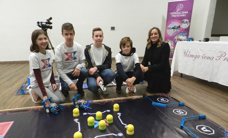 Uspješni mladi robotičari UŽ Pretetinec na prijemu prezentirali svoje aktivnosti