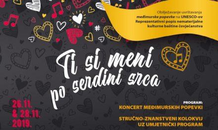 Koncert povodom godišnjice uvrštavanja međimurske popevke na UNESCO popis