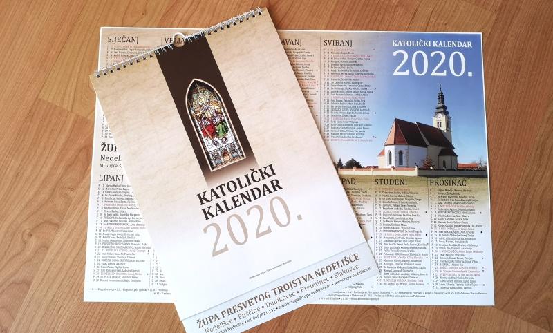 Župa Nedelišće ima vlastite kalendare za 2020. godinu