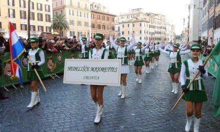 Mažoretkinje Nedelišća na novogodišnjoj paradi vječnog grada Rima