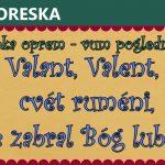 Valant, Valent, cvét ruméni, tębe zabral Bóg lubléni!