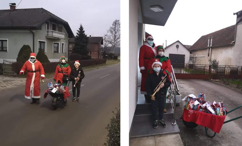 Djed Božićnjak u Trnovcu obradovao mališane