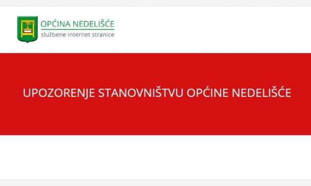 Upozorenje stanovništvu općine Nedelišće na sumnjive osobe