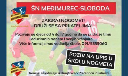 Upisi u novu sezonu Škole nogometa Međimurec-Sloboda