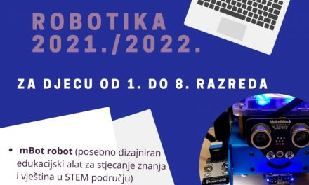 Upisi na radionice Robotike UŽ Pretetinec