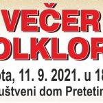 U subotu Večer folklora u Dunjkovcu