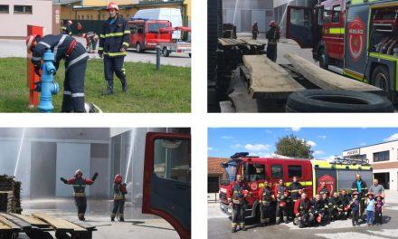 VATROGASNA VJEŽBA: Požar u poduzeću Pozvek d.o.o.