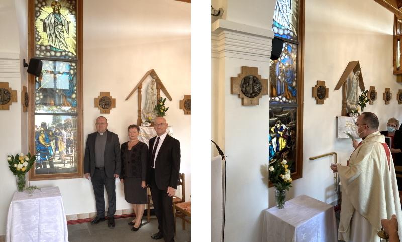 U Slakovcu blagoslov novog vitraja, dar obitelji Senčar